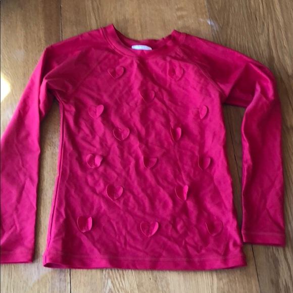 Hanna Andersson 120 130 140 Girls Swim Rashguard Tee Pink Stripes NEW 6-7 8 10